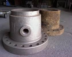 Diferencia entre pieza oxidada y pieza con proceso de chorreado.