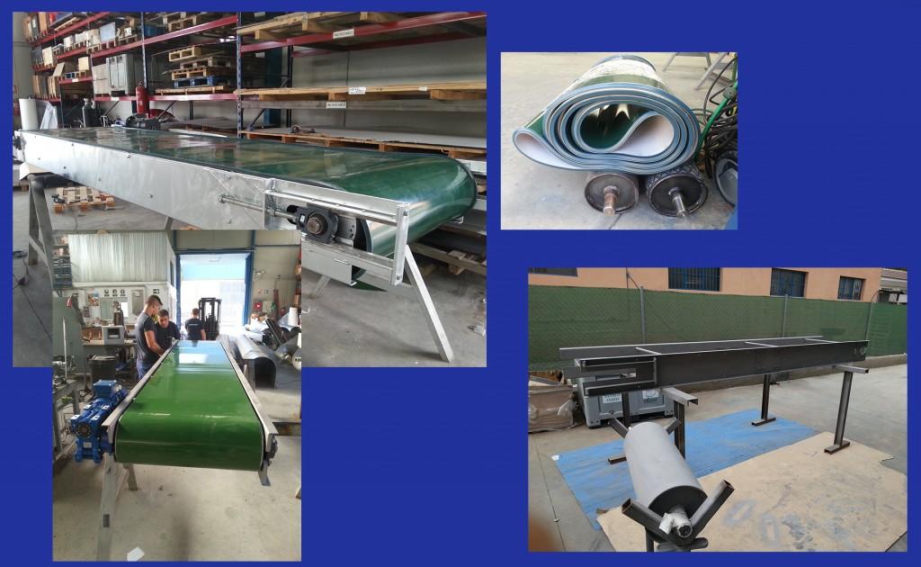 Montaje industrial: fabricación de cinta transportadora