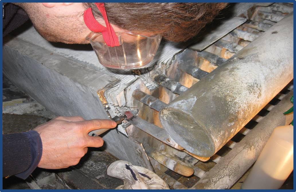 Mantenimiento industrial: Reparación de radiador