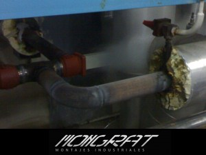Aislamientos térmicos en proceso de montajes industriales