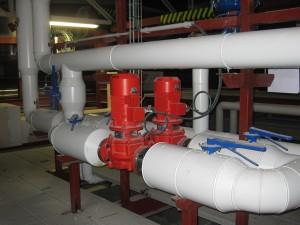 Diámetros de tuberías de vapor en plantas industriales.